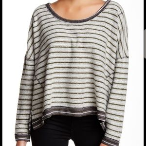 Free People Striped Dolman Pullover Sweater Size M